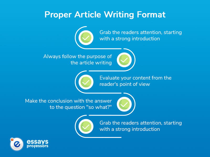 Proper Article Writing Format
